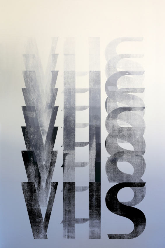 ∞ VHS (2020) ∞ Silkscreen print, water-based ink ∞ Dimensions – 300 (H) x 173 (W) cm ∞
